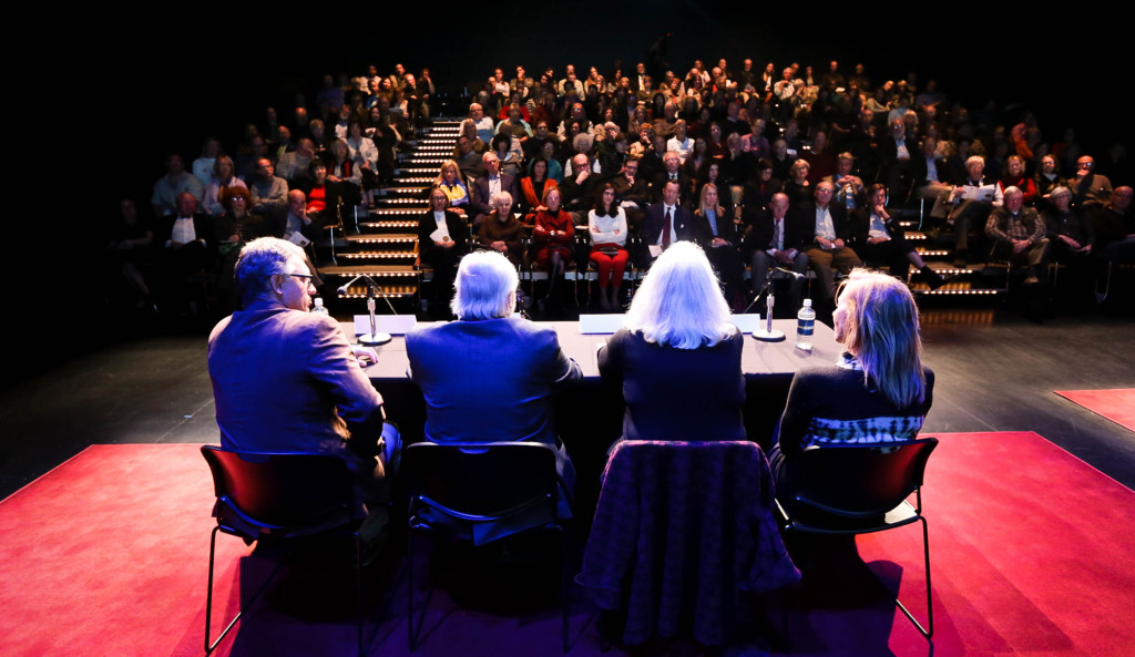 Panelists talked about their award-winning work and debated questions of trust to a packed crowd at the Guthrie Theater.